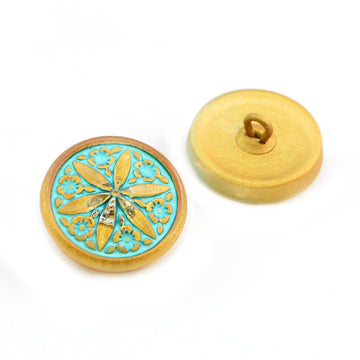 Flower Star-Turquoise Gold - Beadshop.com