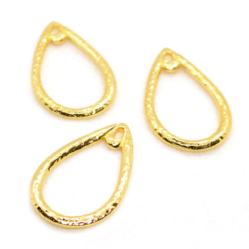 Hammered Teardrops- Gold