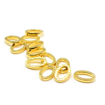 Small Hammertone Ring- Gold