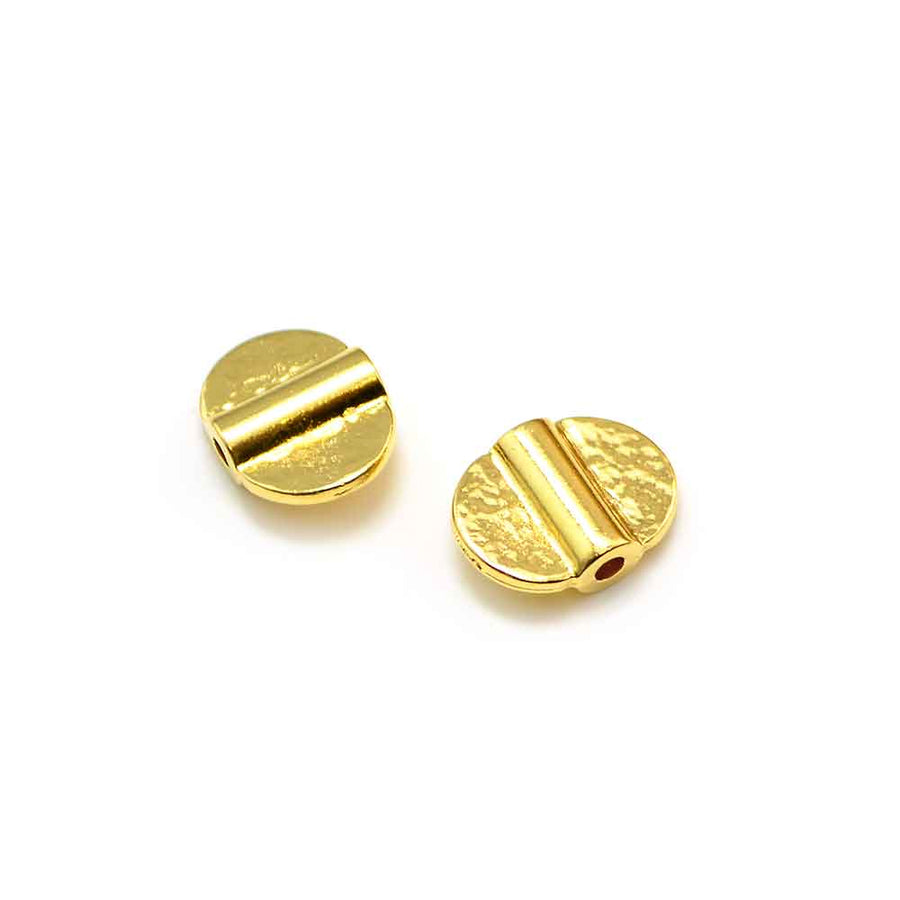 Double Baule Bead- Gold