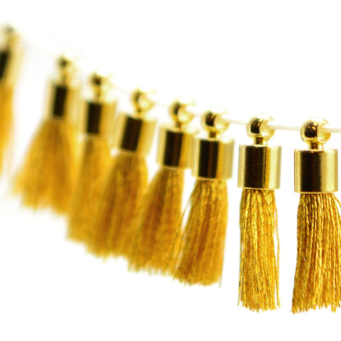 Tiny Tassel- Gold Thread/Gold
