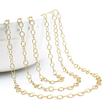 Endless Love- Satin Gold , Chain - Continental, Beadshop.com