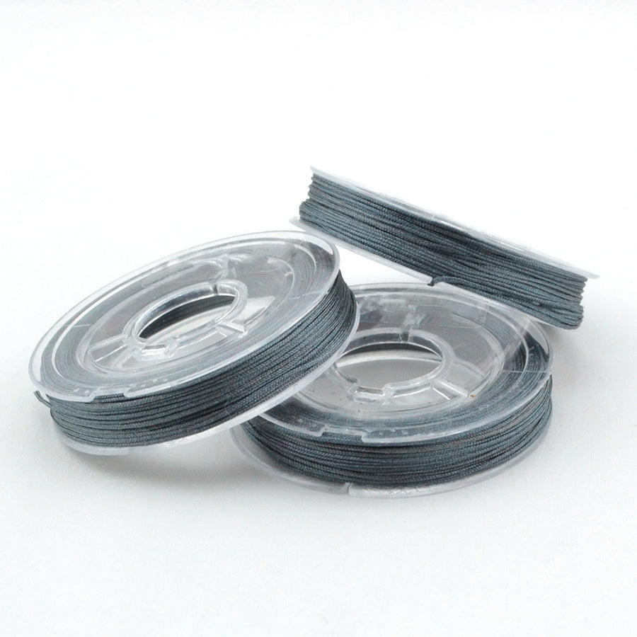 Dark Gray- 0.4mm , 0.4mm chinese knotting cord - Tangles n' Knots, Beadshop.com