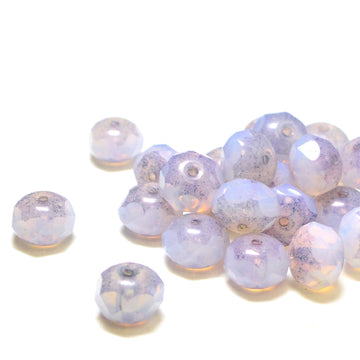 8mm Rondelles- Heather Opalite - Beadshop.com