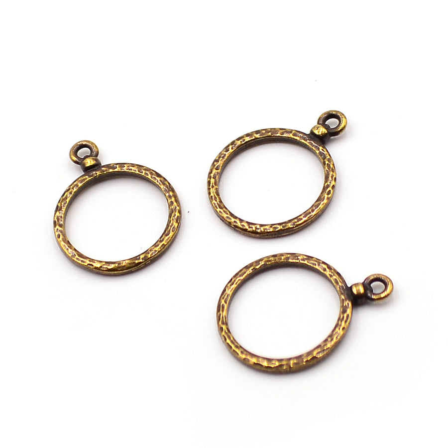 Hammered Hoops- Ant. Brass