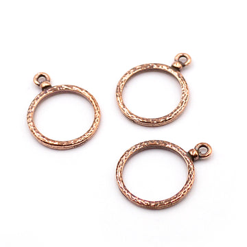 Hammered Hoops- Ant. Copper