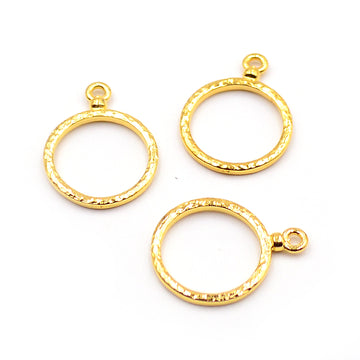 Hammered Hoops- Gold