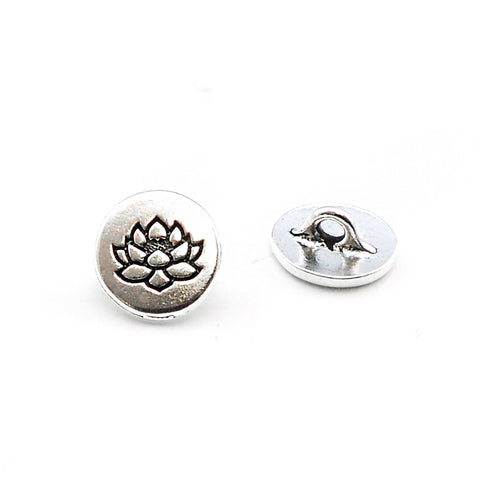 Humble Lotus- Antique Silver