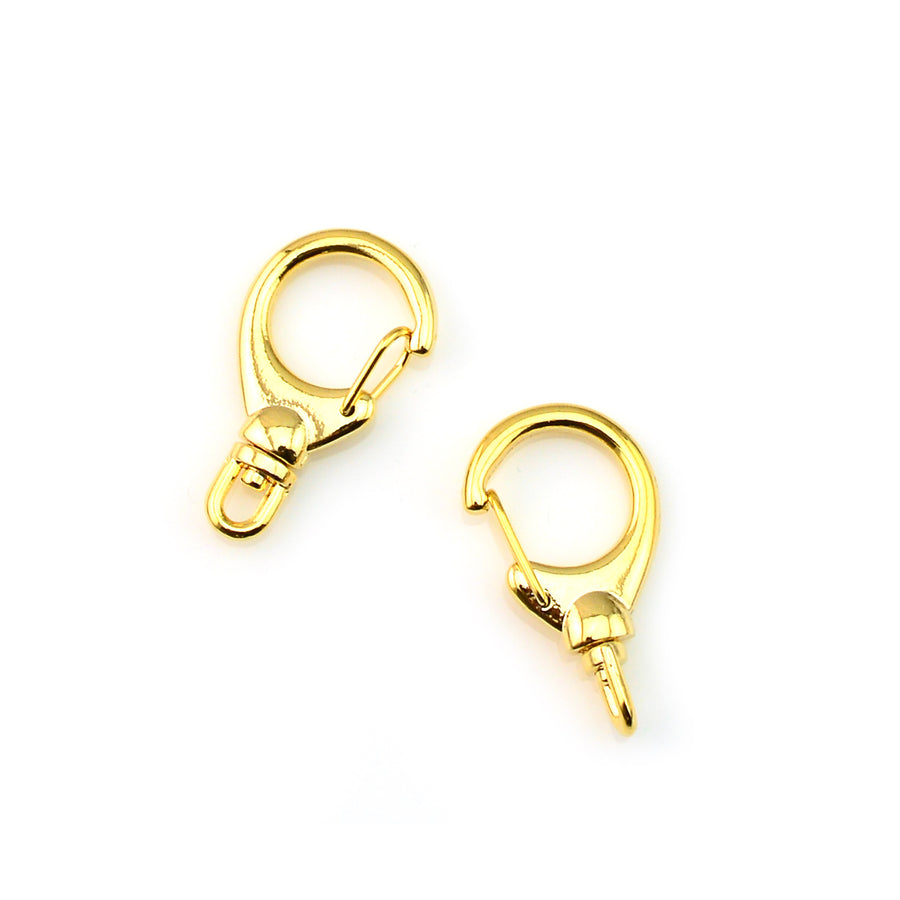 Jumbo Swivel- Bright Gold