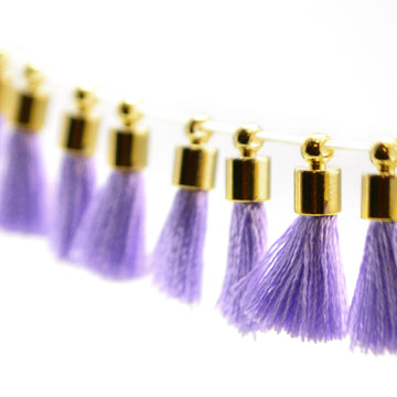 Tiny Tassel- Lavender/Gold