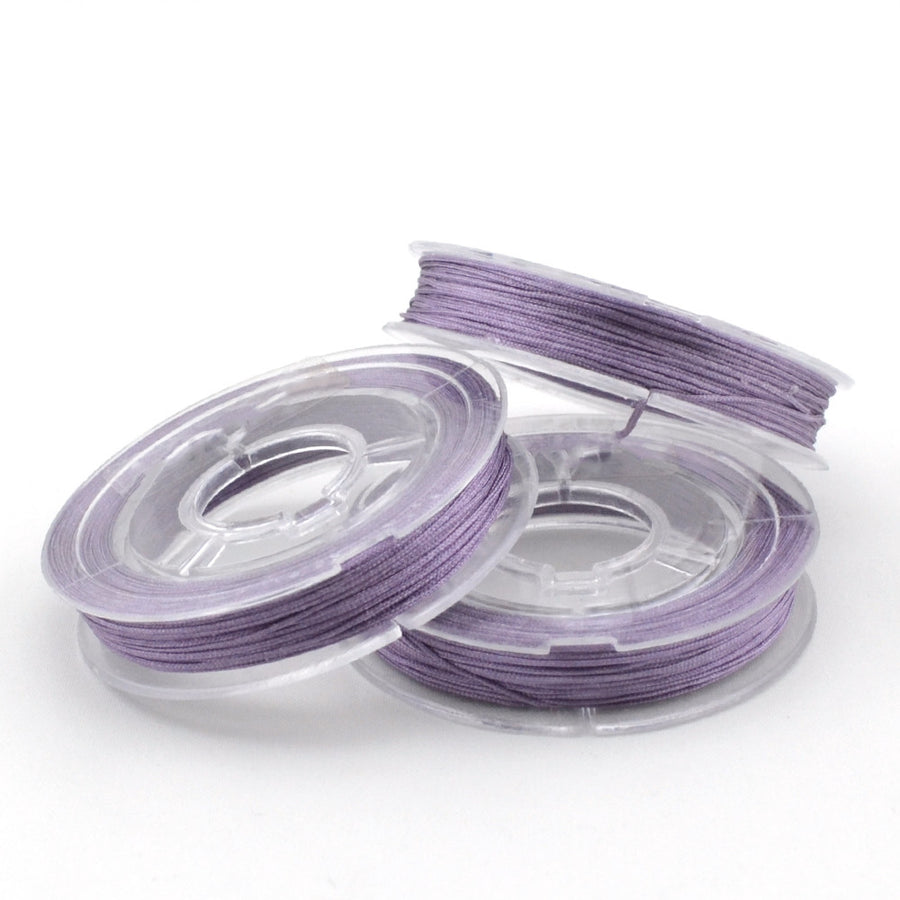 Frosted Lilac- 0.4mm , 0.4mm chinese knotting cord - Tangles n' Knots, Beadshop.com