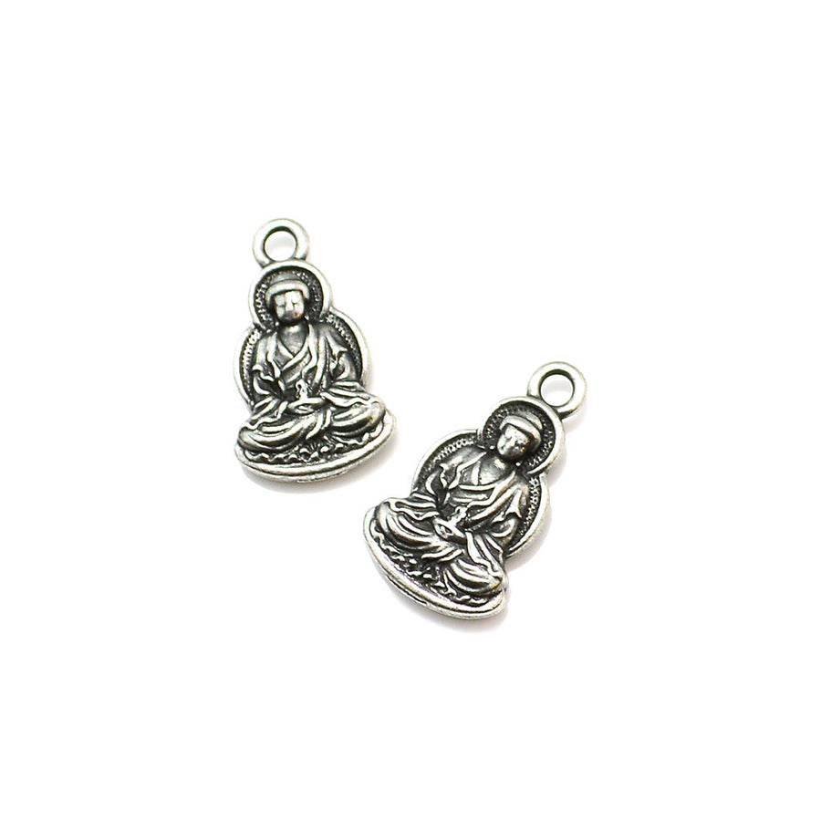 Resting Buddha- Antique Pewter