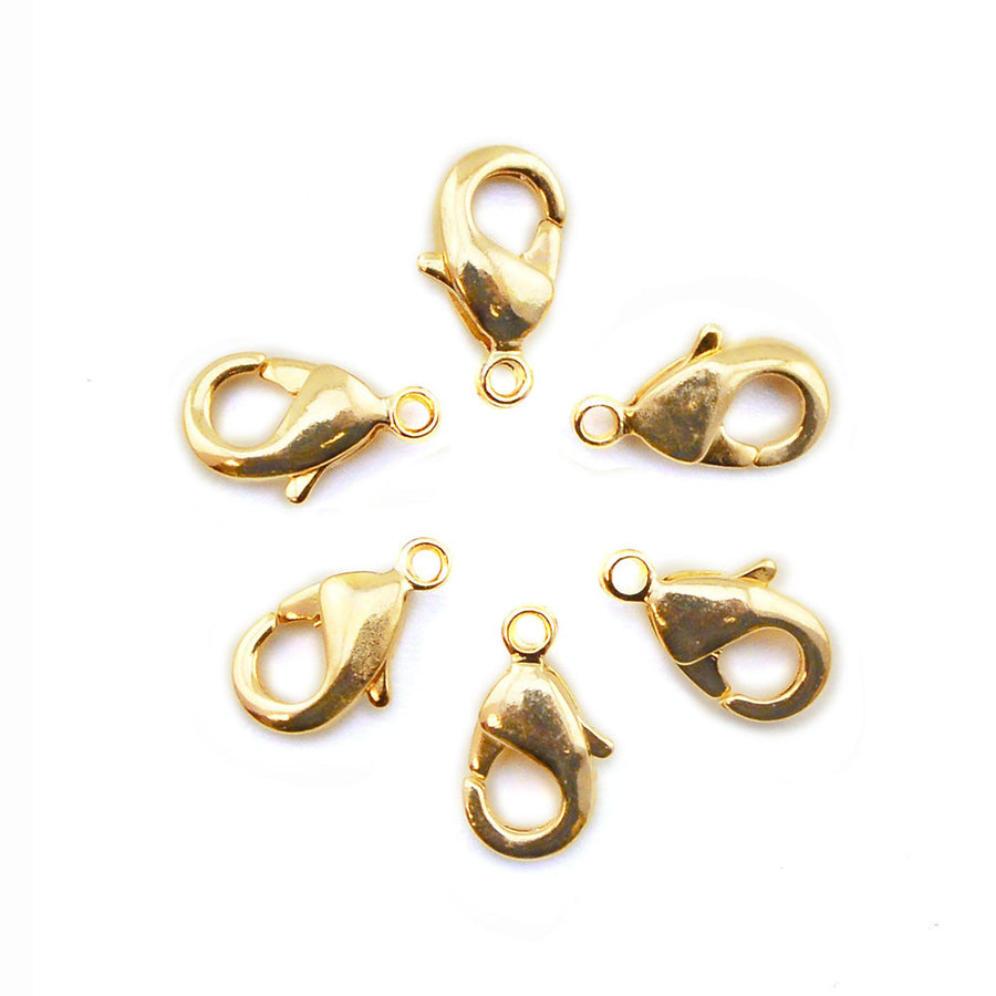 Little Lobster - Gold , Clasps - Continental, Beadshop.com - 2