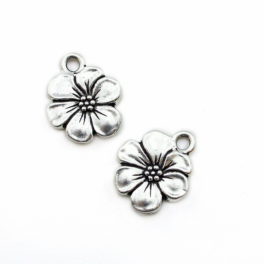 Little Blossom- Silver , Charms - Tierracast, Beadshop.com