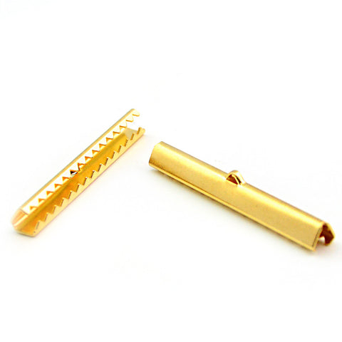 Long Ribbon Crimp- Gold - Beadshop.com