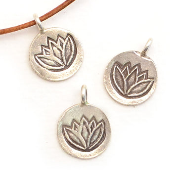 Lotus in Bloom , Charms - Hands of the Hills, Beadshop.com