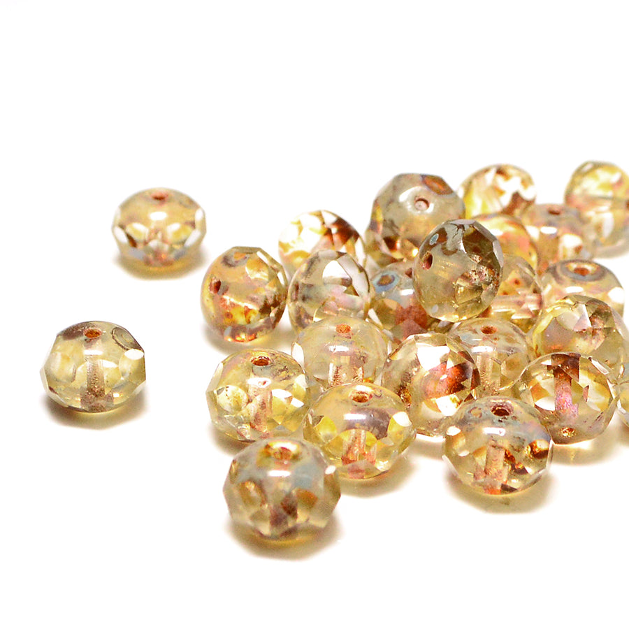 8mm Rondelles- Light Colorado - Beadshop.com
