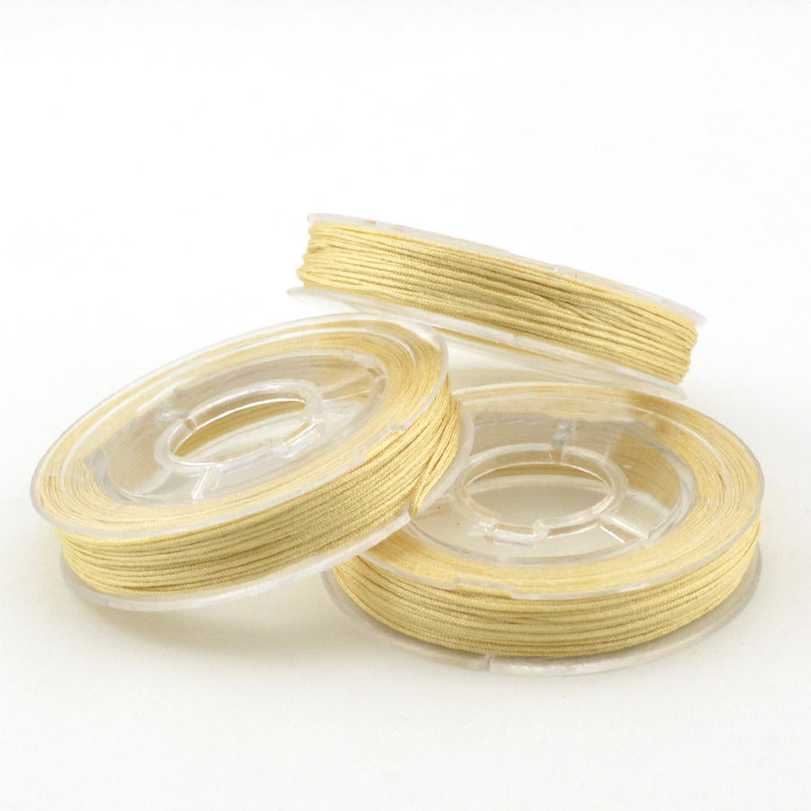 Champagne- 0.4mm , 0.4mm chinese knotting cord - Tangles n' Knots, Beadshop.com