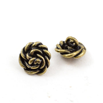 Making Waves- Brass , Buttons - Continental, Beadshop.com
