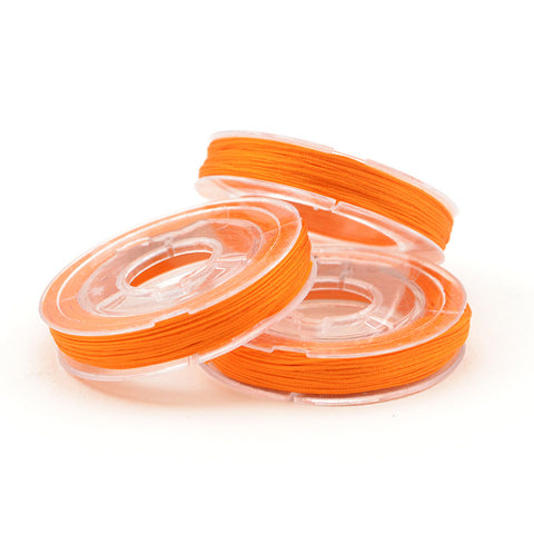 Orange- 0.4mm , 0.4mm chinese knotting cord - Tangles n' Knots, Beadshop.com