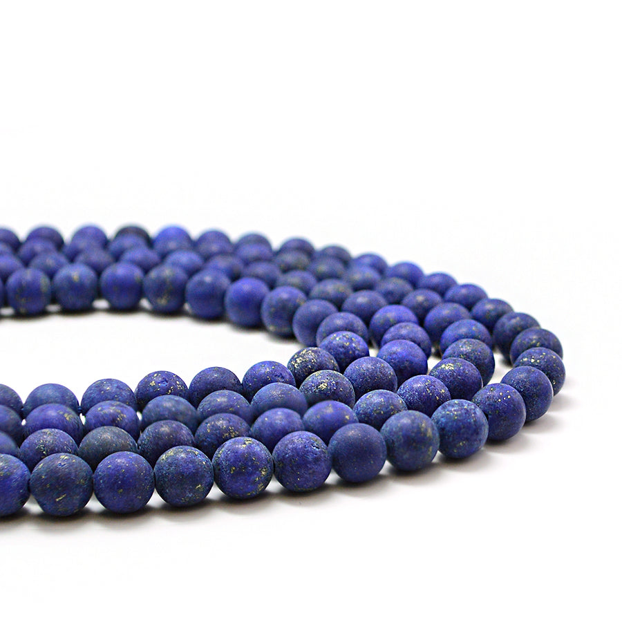 Matte Lapis- 6mm Rounds