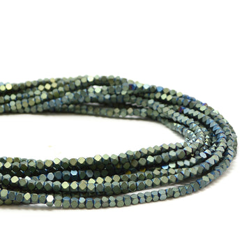 Hematite- Matte Metallic Green 2mm