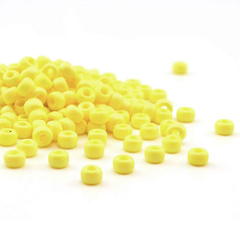 6-404FR-TB Matte Opaque Yellow AB  6/0