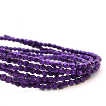 3mm-Metallic Suede Purple - Beadshop.com