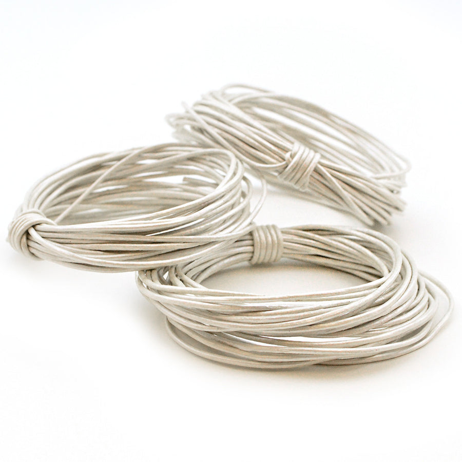 Metallic Pearl- .5mm Indian , Leather - Leathercord USA, Beadshop.com