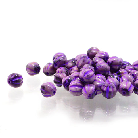 6mm Melons- Purple Pansy