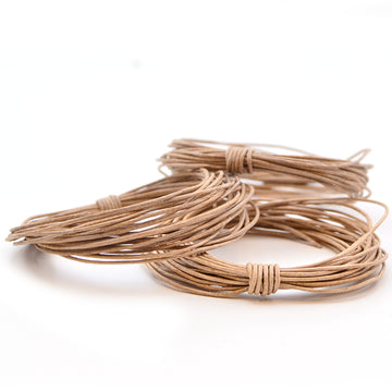 Natural- .5mm Indian , Leather - Leathercord USA, Beadshop.com