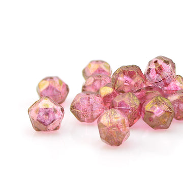 10mm English Cut- Pink Fuchsia