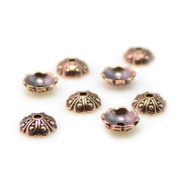 Oasis Cap, 8mm- Antique Copper