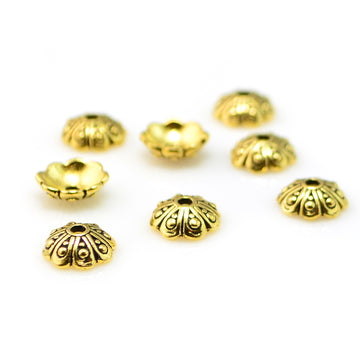 Oasis Cap, 8mm- Antique Gold