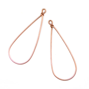 Drop Hoops- Antique Copper