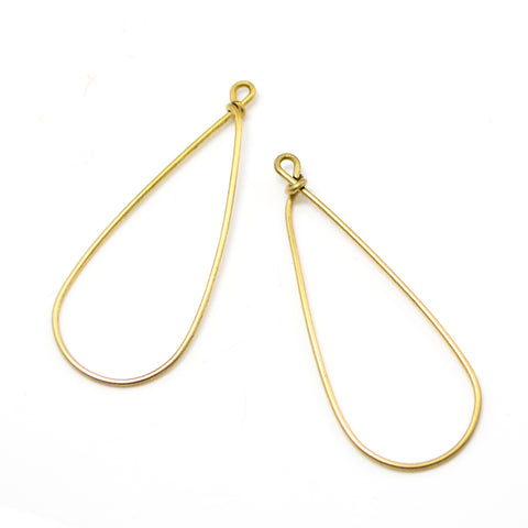 Drop Hoops- Antique Gold