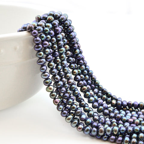 5mm Blue Iris Potato Pearl