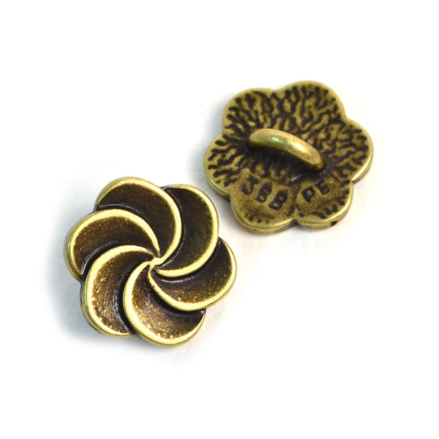 Pirouette- Brass , Buttons - JBB International, Beadshop.com