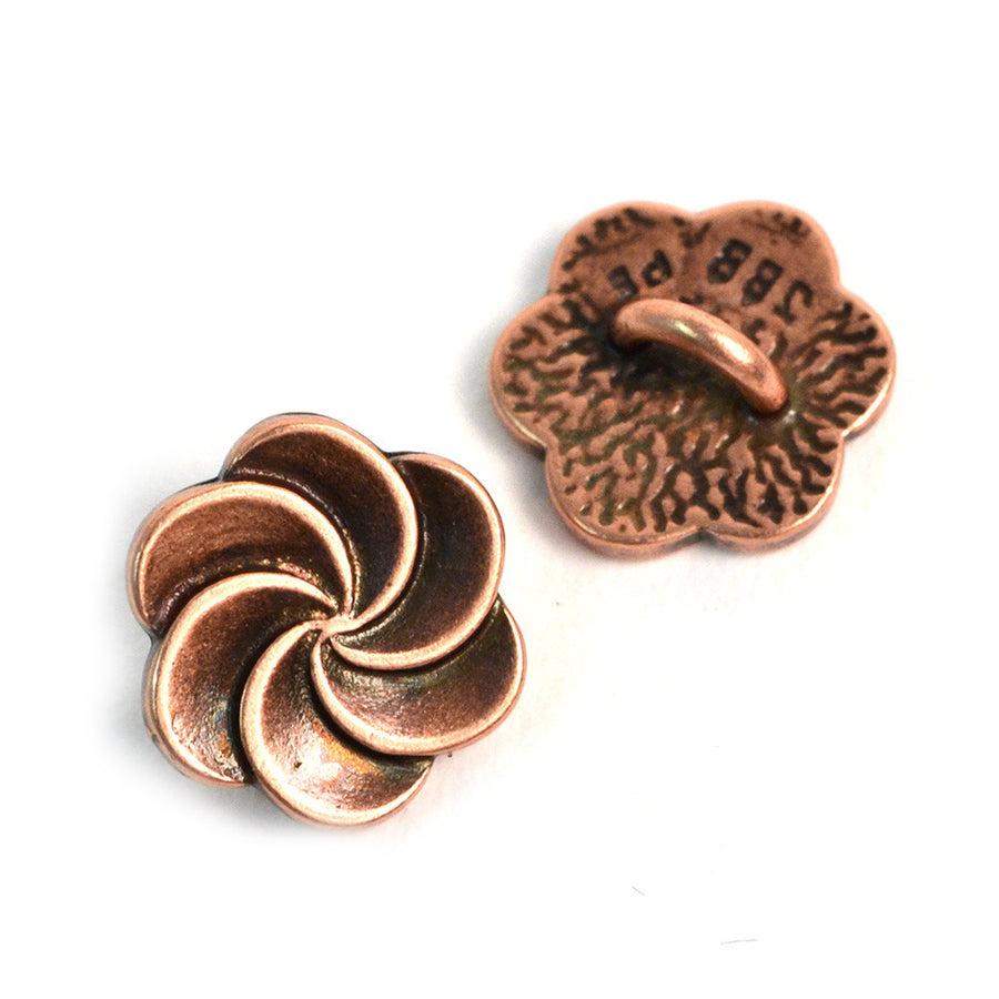Pirouette- Copper , Buttons - JBB International, Beadshop.com