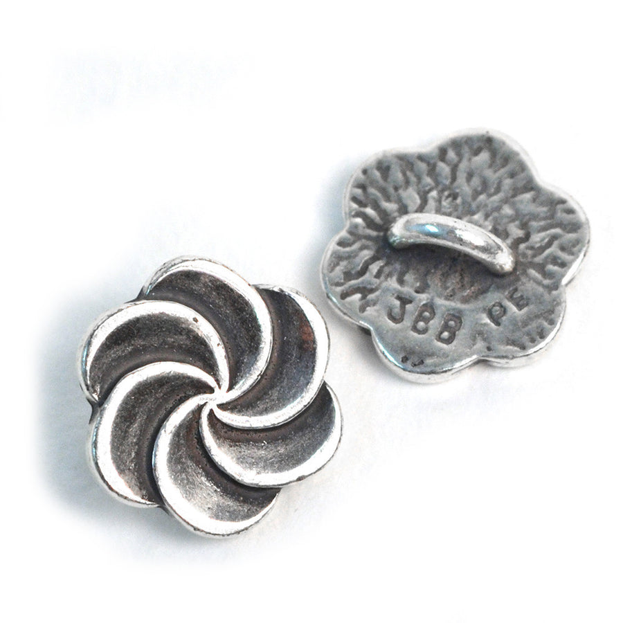 Pirouette- Silver , Buttons - JBB International, Beadshop.com