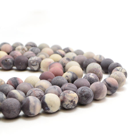 Matte Porcelain Jasper- 8mm