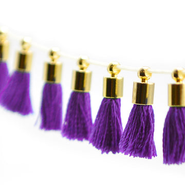 Tiny Tassel- Purple/Gold