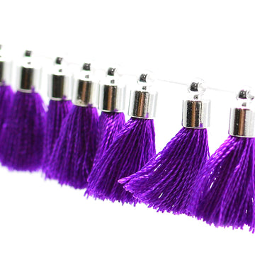 Tiny Tassel- Purple/Silver