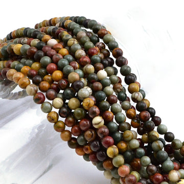 Appalachian Trail- 4mm , Gemstone - Dakota Stones, Beadshop.com