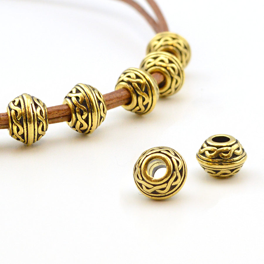 River Shannon- Antique Gold , Metal Beads - Tierracast, Beadshop.com