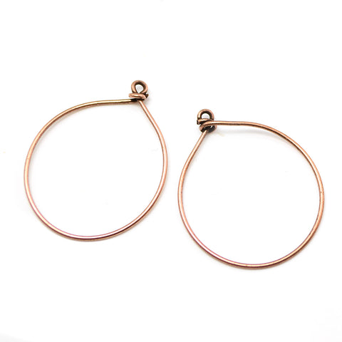 Round Hoops- Antique Copper