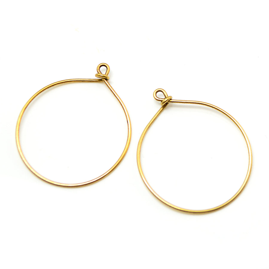 Round Hoops- Antique Gold