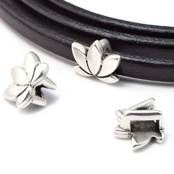 Open Blossom- Antique Silver