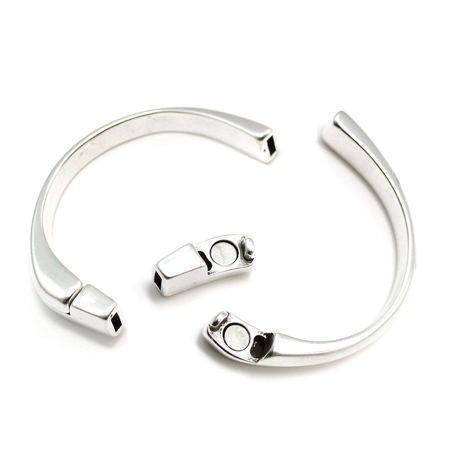 Half Circle Magnetic Clasp- Antique Silver