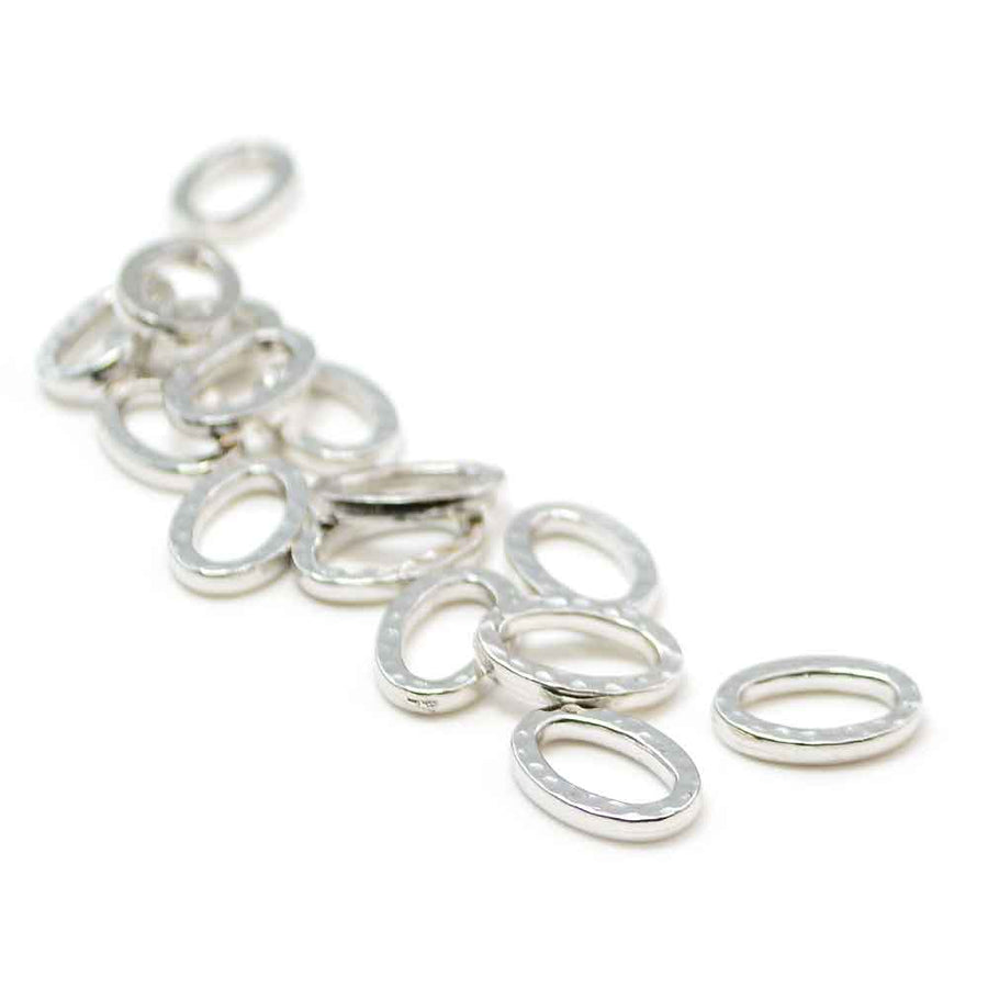 Small Hammertone Ring- Rhodium Plated